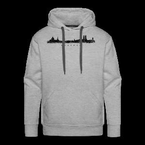 München Skyline (Vintage/Schwarz) S-5XL T-Shirt - Männer Premium Hoodie