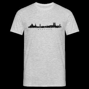 München Skyline (Vintage/Schwarz) S-5XL T-Shirt - Männer T-Shirt
