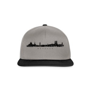 München Skyline (Vintage/Schwarz) S-5XL T-Shirt - Snapback Cap