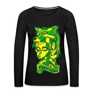 Wild Child Tattoo Edgy - Naisten premium pitkähihainen t-paita