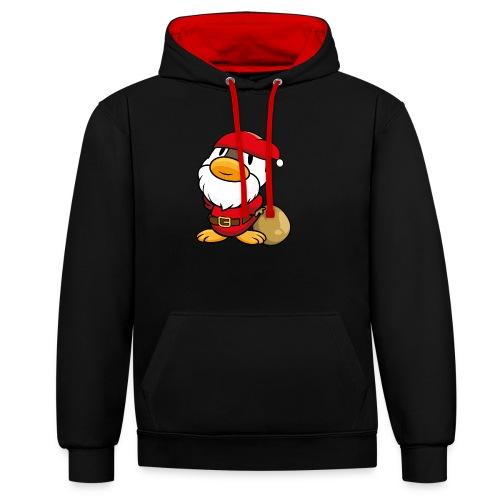 Ente Weihnachtsmann Gans Pullover - Kontrast-Hoodie