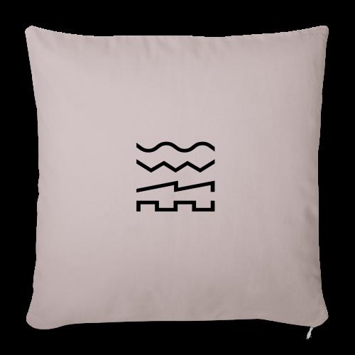 Waveforms Beanie - Sofa pillow cover 44 x 44 cm