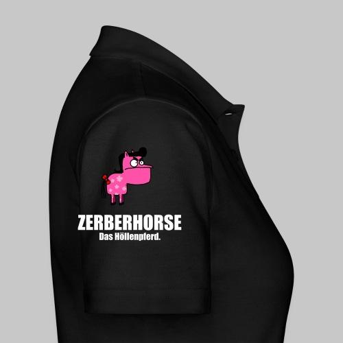 Pferdetasse schwarz - Frauen Polo Shirt