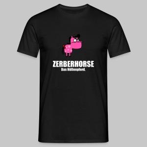 Pferdetasse schwarz - Männer T-Shirt