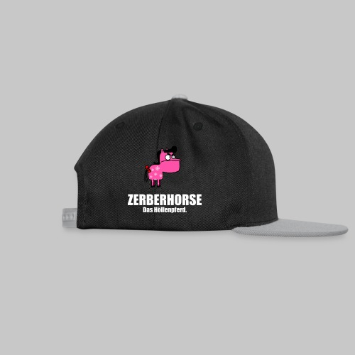 Pferdetasse schwarz - Snapback Cap
