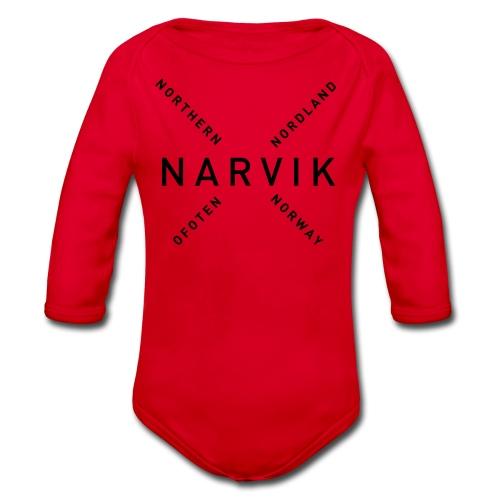Narvik - Northern Norway - Økologisk langermet baby-body