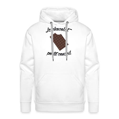 Le chocolat - Tshirt homme - Sweat-shirt à capuche Premium pour hommes
