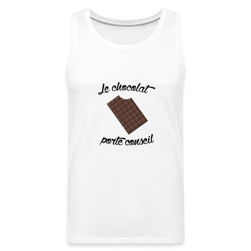 Le chocolat - Tshirt homme - Débardeur Premium Homme