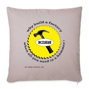 K.I.S.S. Principle - Sofa pillow cover 44 x 44 cm