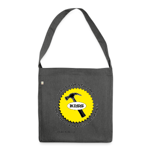 K.I.S.S. Principle - Shoulder Bag made from recycled material
