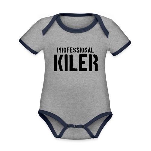 Professional Kiler - Økologisk kortermet kontrast-babybody