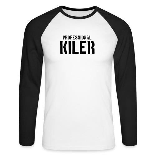 Professional Kiler - Langermet baseball-skjorte for menn