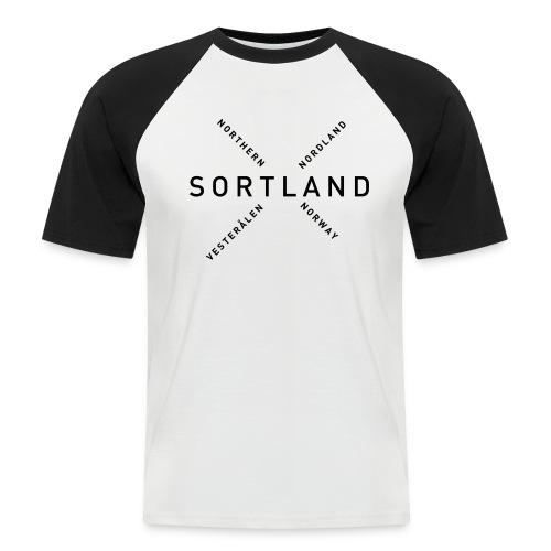 Sortland - Northern Norway - Kortermet baseball skjorte for menn