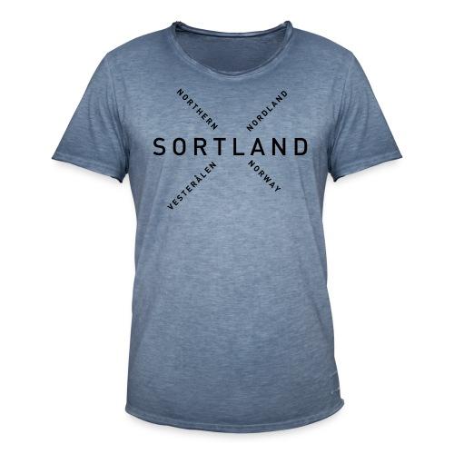 Sortland - Northern Norway - Vintage-T-skjorte for menn