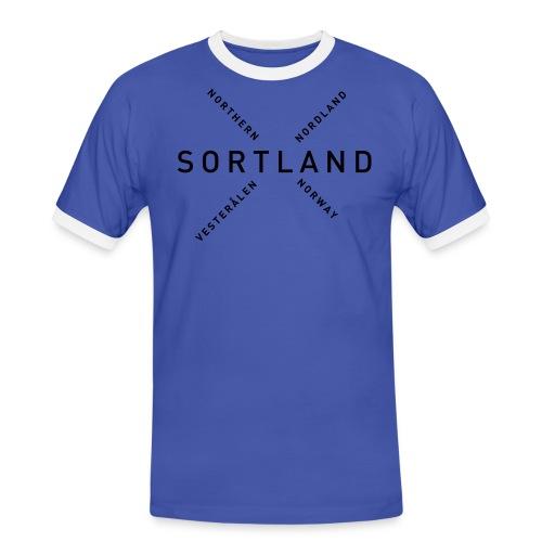 Sortland - Northern Norway - Kontrast-T-skjorte for menn