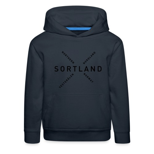 Sortland - Northern Norway - Premium Barne-hettegenser