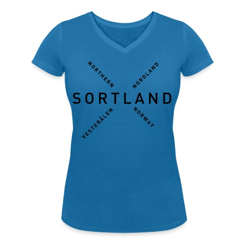Sortland - Northern Norway - Økologisk T-skjorte med V-hals for kvinner fra Stanley & Stella