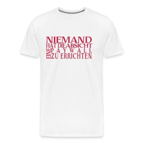 Das Paywall-Shirt vom Gesellschafts-Echo - Männer Premium T-Shirt