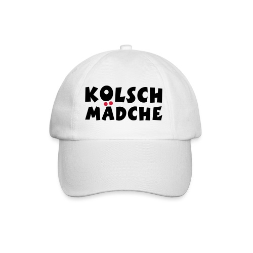Kölsch Mädche mit Ö und Ä (Schwarz/Rot) Mädchen aus Köln - Baseballkappe