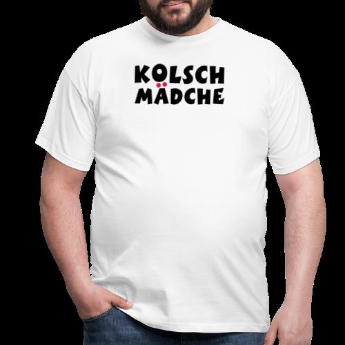 Kölsch Mädche mit Ö und Ä (Schwarz/Rot) Mädchen aus Köln - Männer T-Shirt