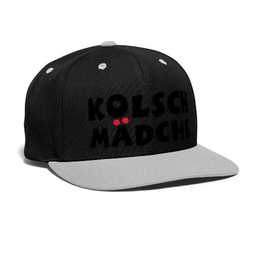 Kölsch Mädche mit Ö und Ä (Schwarz/Rot) Mädchen aus Köln - Kontrast Snapback Cap