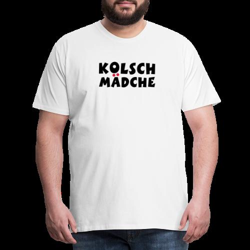 Kölsch Mädche mit Ö und Ä (Schwarz/Rot) Mädchen aus Köln - Männer Premium T-Shirt