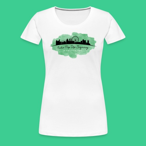 Indie Pop Up Signing V-neck T-shrt - Women's Premium T-Shirt