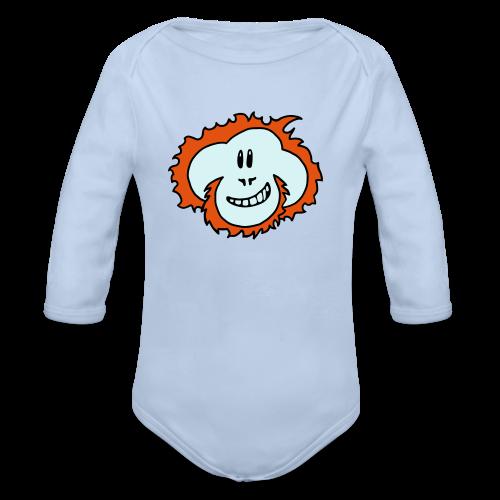 Happy Orangutan Baby Bodysuit - Organic Longsleeve Baby Bodysuit