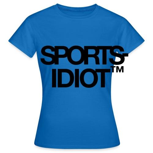 Sportsidiot™ - T-skjorte for kvinner