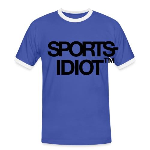 Sportsidiot™ - Kontrast-T-skjorte for menn