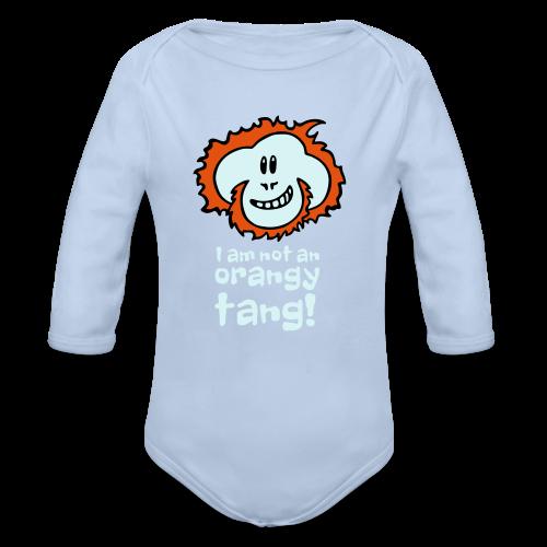 Orangy Tang Orangutan Baby Bodysuit - Organic Longsleeve Baby Bodysuit