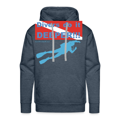 T-Shirt - Divers do it deeper - Männer Premium Hoodie