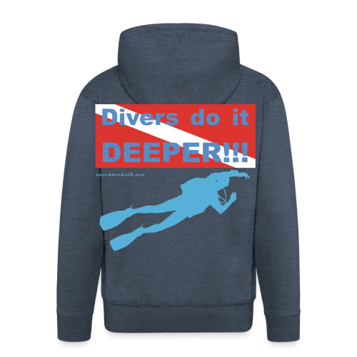 T-Shirt - Divers do it deeper - Männer Premium Kapuzenjacke