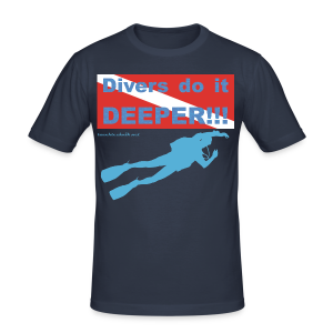 T-Shirt - Divers do it deeper - Männer Slim Fit T-Shirt