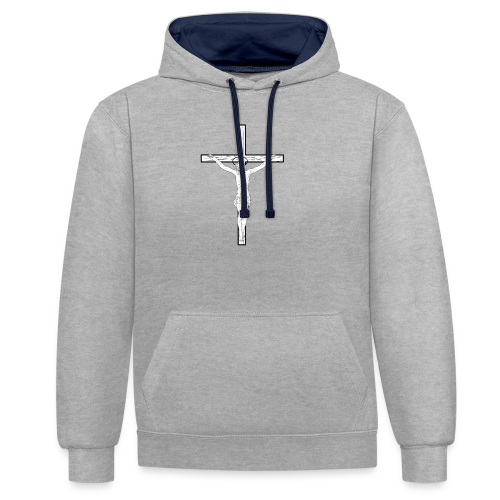 JESUS SHOCKER - Contrast Colour Hoodie