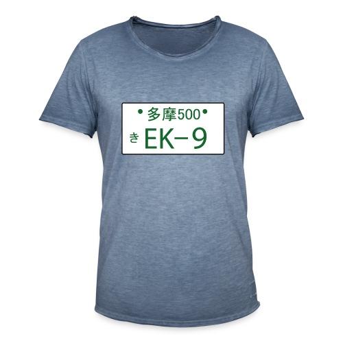 Japanese license plate EK9 - Männer Vintage T-Shirt