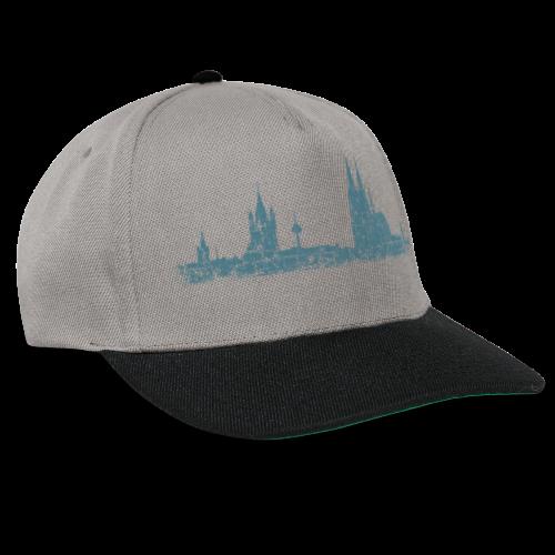 Köln Skyline (Vintage Blau) Kölner Stadtansicht Panorama - Snapback Cap