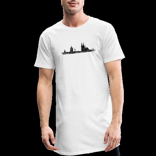 Kölner Skyline (Vintage Schwarz) Köln Panorama Stadtansicht - Männer Urban Longshirt