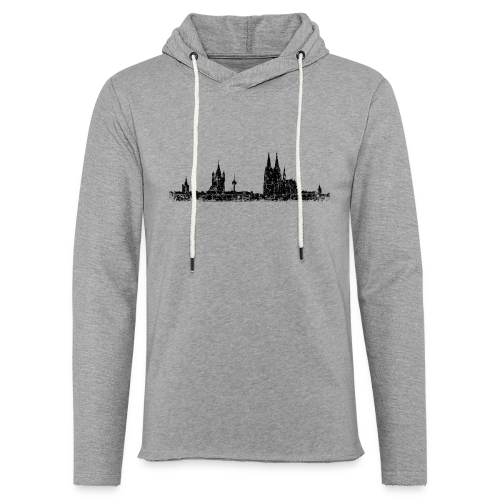 Kölner Skyline (Vintage Schwarz) Köln Panorama Stadtansicht - Leichtes Kapuzensweatshirt Unisex