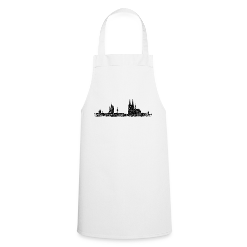 Kölner Skyline (Vintage Schwarz) Köln Panorama Stadtansicht - Kochschürze