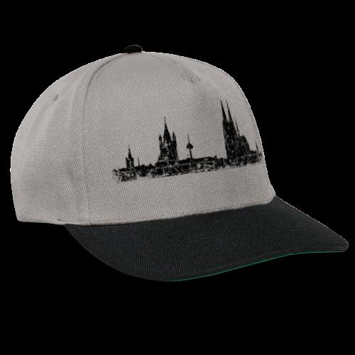 Kölner Skyline (Vintage Schwarz) Köln Panorama Stadtansicht - Snapback Cap
