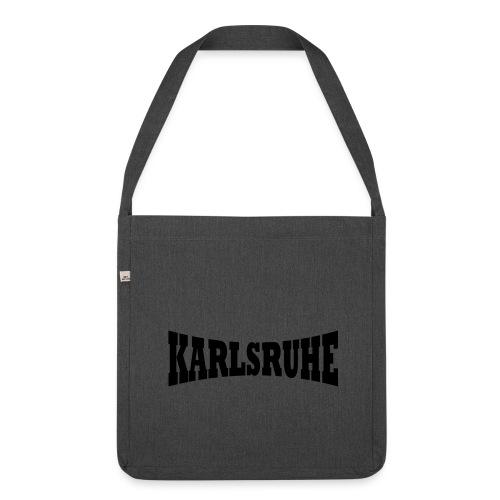 Tasche  Karlsruher braun - Schultertasche aus Recycling-Material