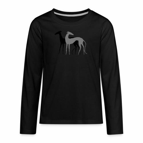 2 Galgos - Teenager Premium Langarmshirt