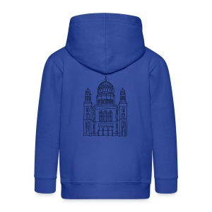 New Synagogue Berlin Long Sleeve Shirts - Kids' Premium Zip Hoodie
