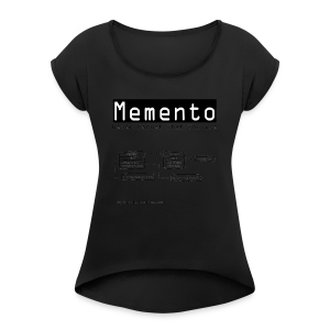 Memento (Women) - Women's T-shirt with rolled up sleeves