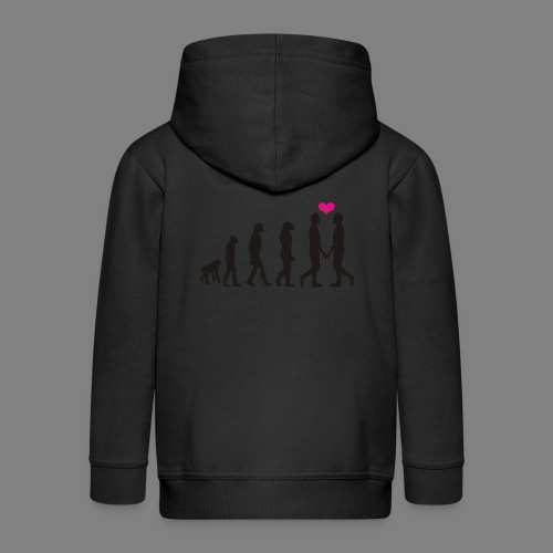 gay evolution - Kinder Premium Kapuzenjacke