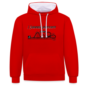 I Survived Javascript (Women) - Contrast Colour Hoodie