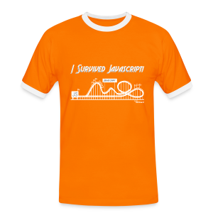 I Survived Javascript - Men's Ringer Shirt