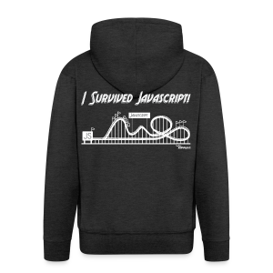 I Survived Javascript - Men's Premium Hooded Jacket