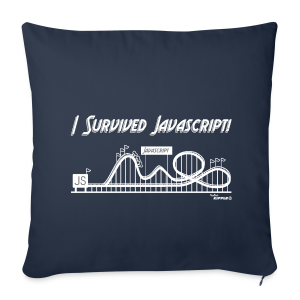 I Survived Javascript (Women) - Sofa pillow cover 44 x 44 cm